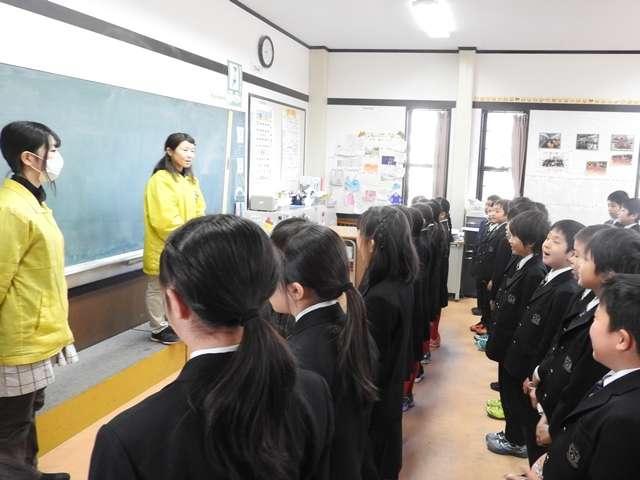 学年朝会・環境学習