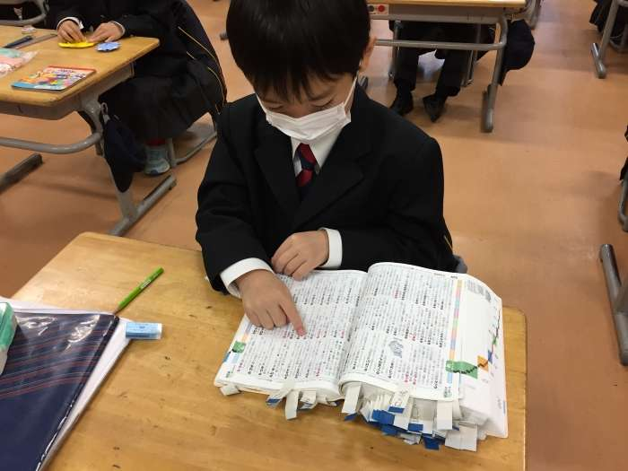 1年生の自習と図鑑作り