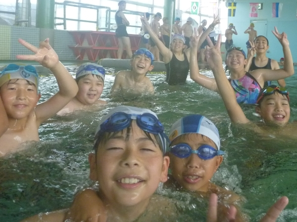 小学校最後のプール学習