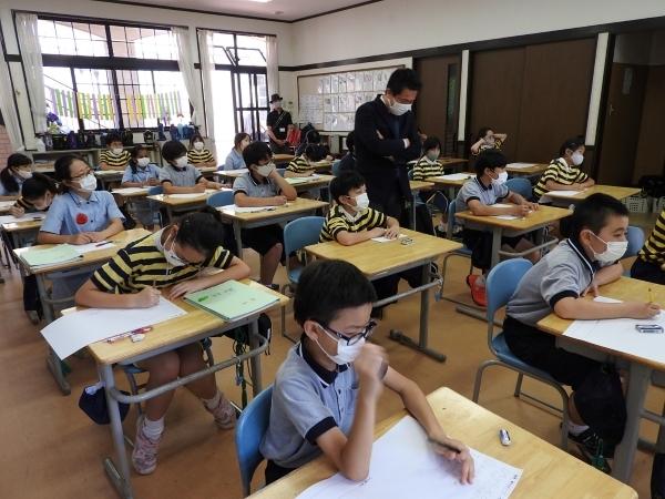 自由授業参観・5年生救命講習会
